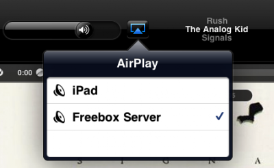 android airplay freebox v6
